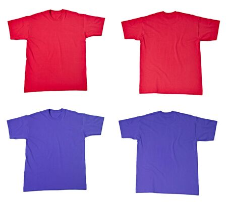 collection of  various t shirts on white background. each one is shot separately Stock Photo - 14359046