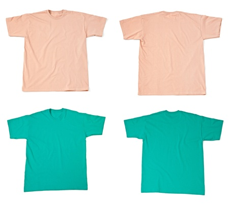collection of  various t shirts on white background. each one is shot separately Stock Photo - 14359043