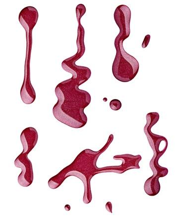 emalj: slut upp av nagellack droppe på vit bakgrund