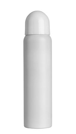 shampoo bottle: close up of  beauty hygiene container on white background Stock Photo