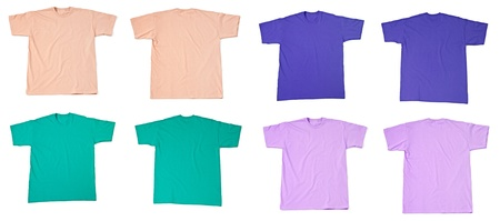 collection of  various t shirts on white background  each one is shot separately Stock Photo - 14780393