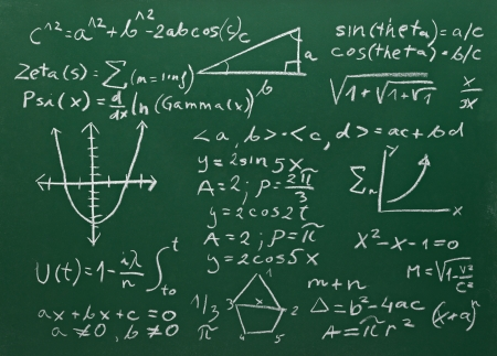 close up of math formulas on a blackboard Stock Photo - 15067323