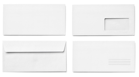 collection of vaus  blank white paper on white background. each one is shot separately Stock Photo - 15430905