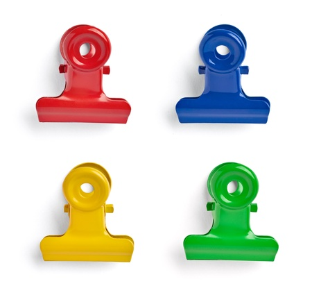 collection of various pushpins on white background  each one is shot separately Stock Photo - 15930466