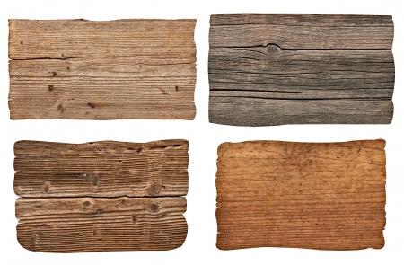 colecci�n de diversos signo vac�o de madera sobre fondo blanco. cada uno es asesinado por separado photo