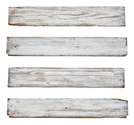 wood plaque: collection of various  empty wooden sign on white background  each one is shot separately