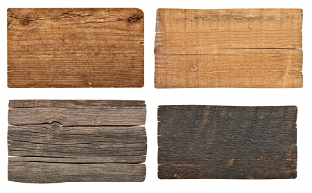 colecci�n de varios signos de madera vac�o en el fondo blanco cada uno es disparado por separado photo
