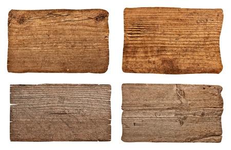 colecci�n de diversos signo vac�o de madera en el fondo blanco cada uno es asesinado por separado photo