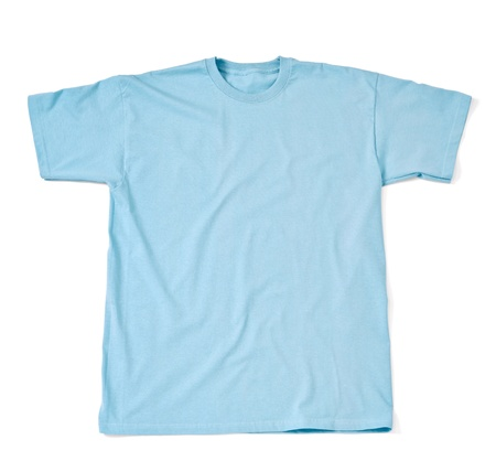 close up of  a t shirt on white background with clipping path photo