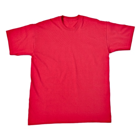 close up of  a t shirt on white background with clipping path Stock Photo - 17022958
