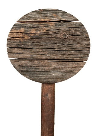 collection of various  empty wooden sign on white background. each one is shot separately photo