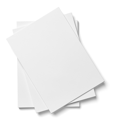close up of stack of papers on white background  Stock Photo - 17681520