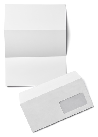collection of various  blank white paper on white background photo