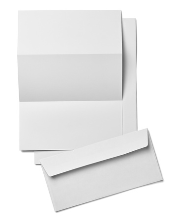 space to write: collection of various  blank white paper on white background