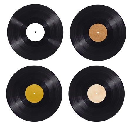 record albums: collection of  variousvynil on white background. each one is shot separately