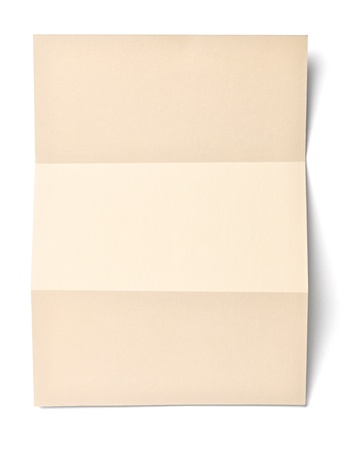 close up of   grunge paper envelope on white background with clipping path photo