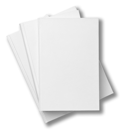 collection of various  blank white  books on white background  Stock Photo - 18727515