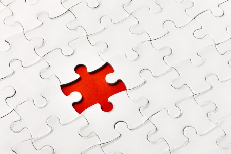 absence: close up of a puzzle game parts