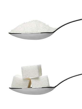 sugar cubes in aspoon photo