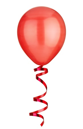 close uo: close uo of  a balloon  on white background Stock Photo