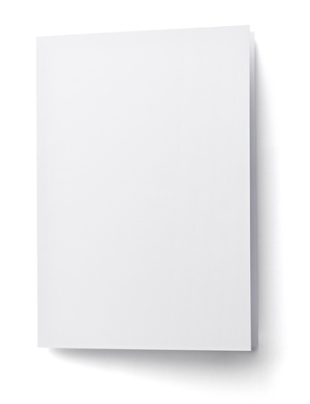 envelop:  blank white paper on white background with clipping path