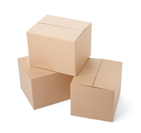 close up of a cardboard box on white background Stock Photo - 19836409