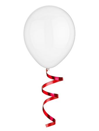close uo of  a balloon  on white background photo