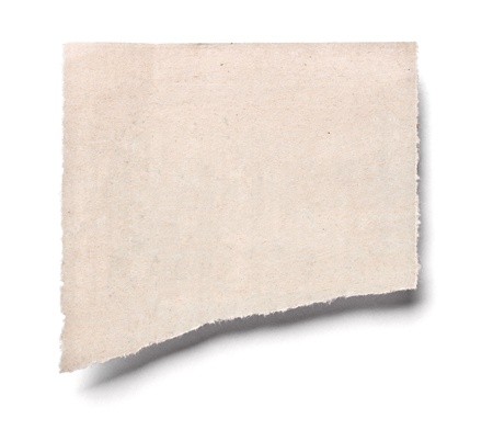close up of a piece of news paper on white background photo