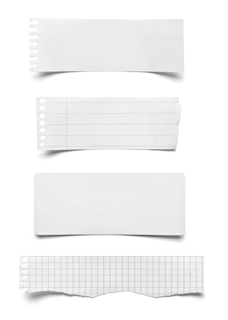 collection of vaus pieces of note paper on white background  each one is shot separately Stock Photo - 21808676