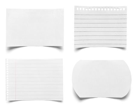 collection of various pieces of note paper on white background  each one is shot separately Stock Photo - 21808677