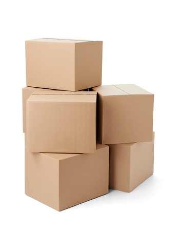 close up of a cardboard box on white background Stock Photo - 21808649