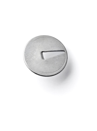 tack: close up of a pushpin on white background with clipping path