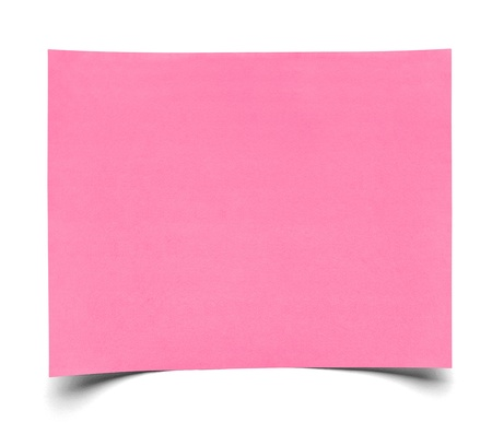 post it: close up of  a piece of note paper on white background Stock Photo