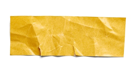 tear duct: close up of  an adhesive tape on  white background