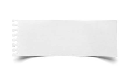 close up of  a piece of note paper on white background Stock Photo - 22418383