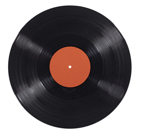 close up of a vynil on white background