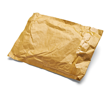 close up of an used open mail package   photo