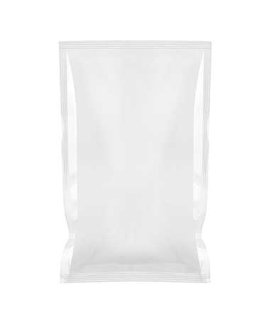 close up of  a white package template on white background Stock Photo - 26001526