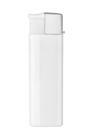 close up of  a lighter on white background