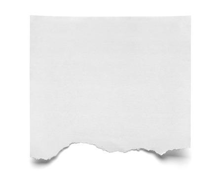 Close-up van een stuk notitie papier op een witte achtergrond Stockfoto
