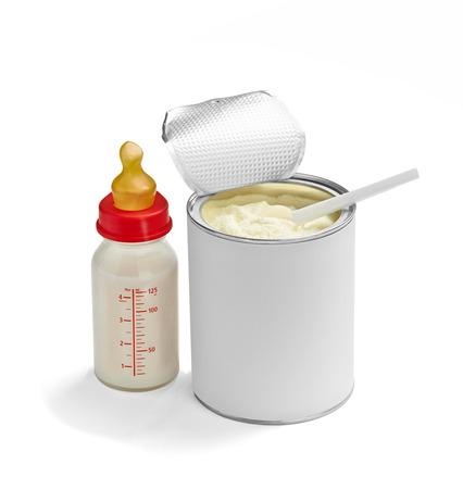 Nahaufnahme von einem Baby Milchpulver Standard-Bild - 29076866