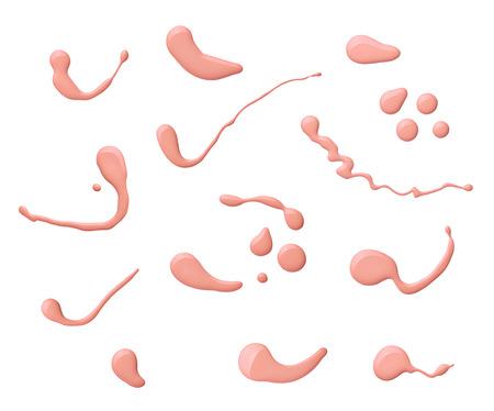 flacon vernis � ongle: collection de divers ongles bouteille de vernis et chute sur fond blanc chacun est shor s�par�ment