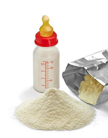 close up of a baby powder milk photo