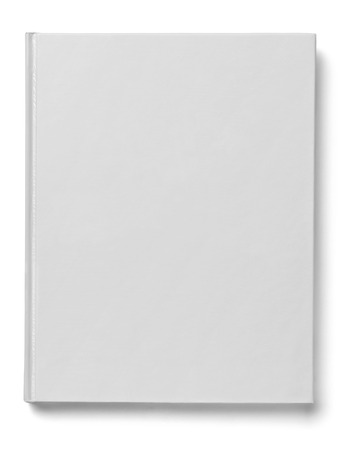 close up of a  blank white  book on white background Banco de Imagens - 31046104