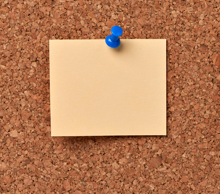 note board: close up of note papers on a corkboard