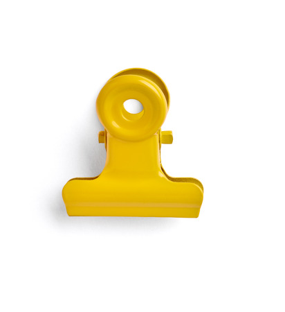 close up of a pushpin on white background with clipping path photo