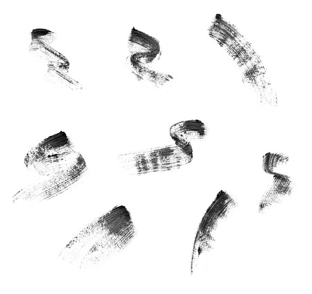 collection of a mascara  shapes on white background. each one is shot separately photo