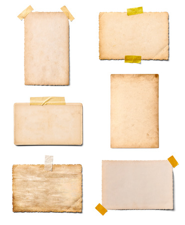 vintage background paper: collection of various old photos on white background. each one is shot separately