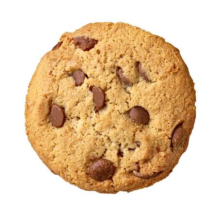 白い背景の上のクッキーのクローズ アップ