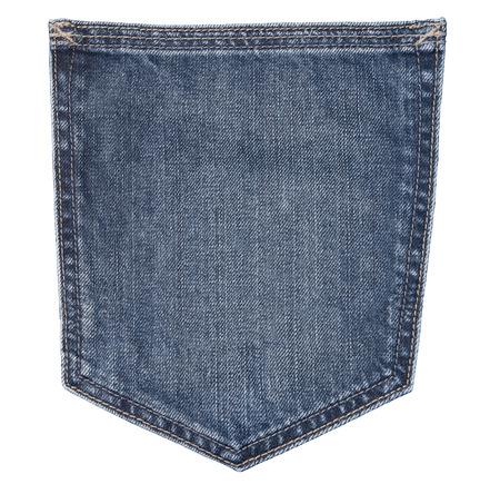 empty pockets: close up of a jeans pocket Stock Photo